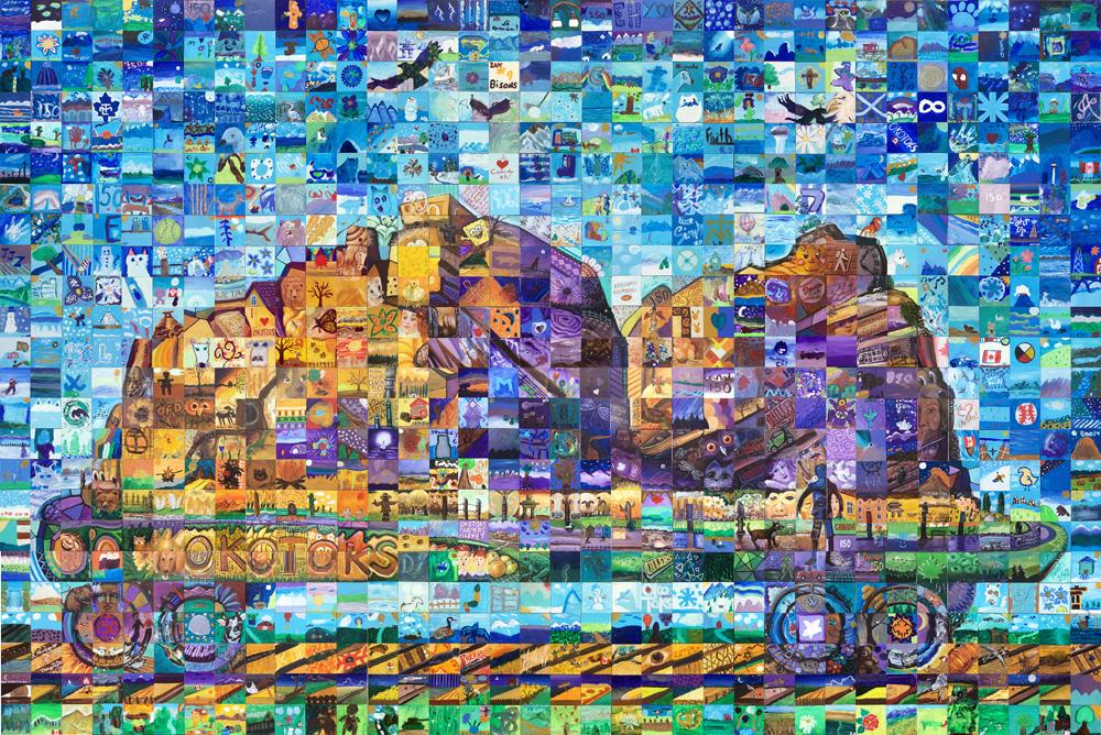 Okotoks Alberta Canada 150 mural