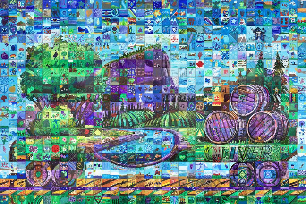 Oliver British Columbia Canada 150 Mural