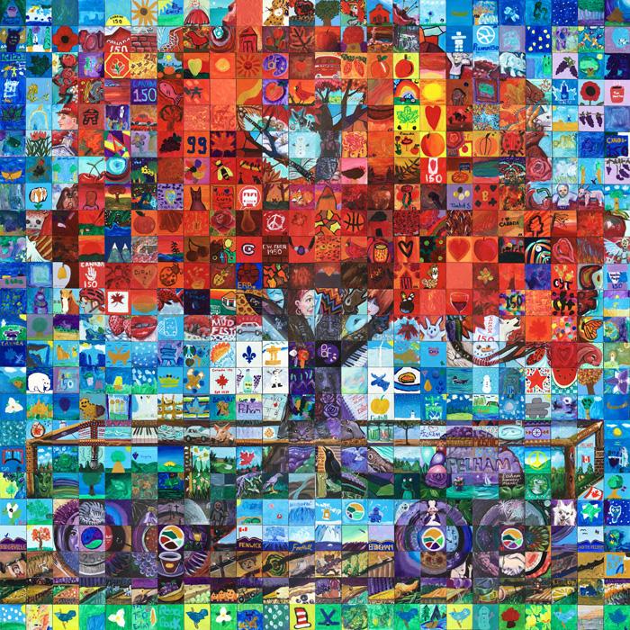 Pelham Ontario canada 150 mural