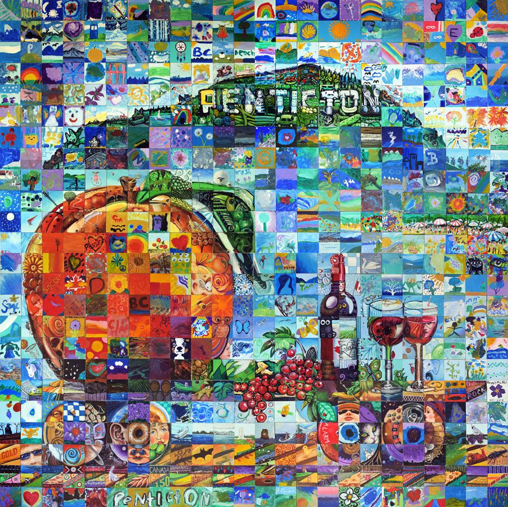 Penticton British Columbia Canada 150 Mural