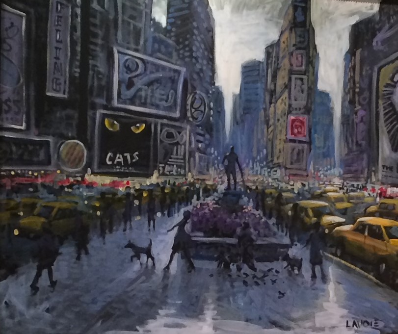 Cats Time Square live art