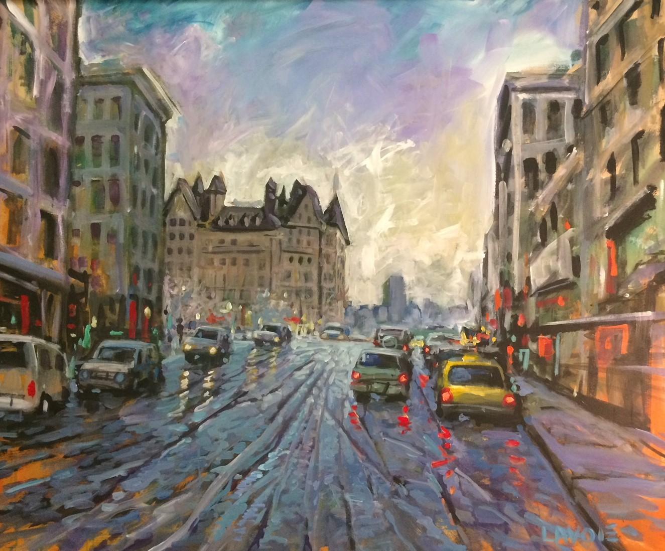 Street scene live art