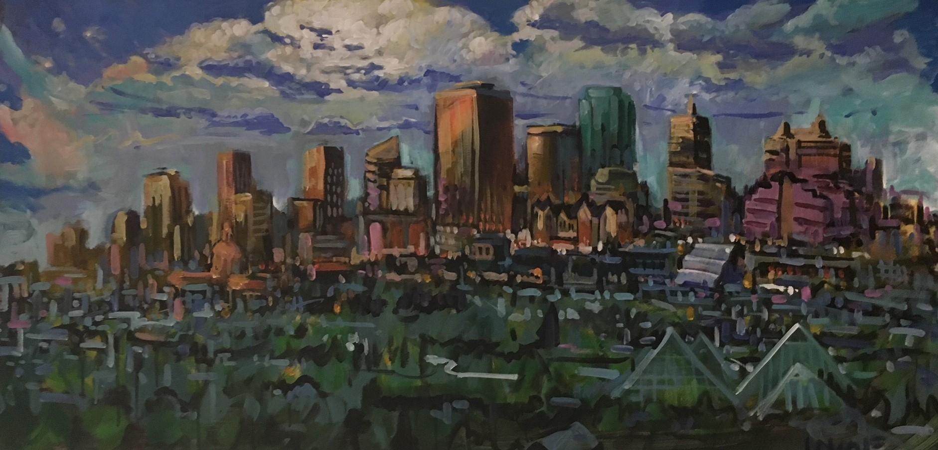 Edmonton Skyline Live Art