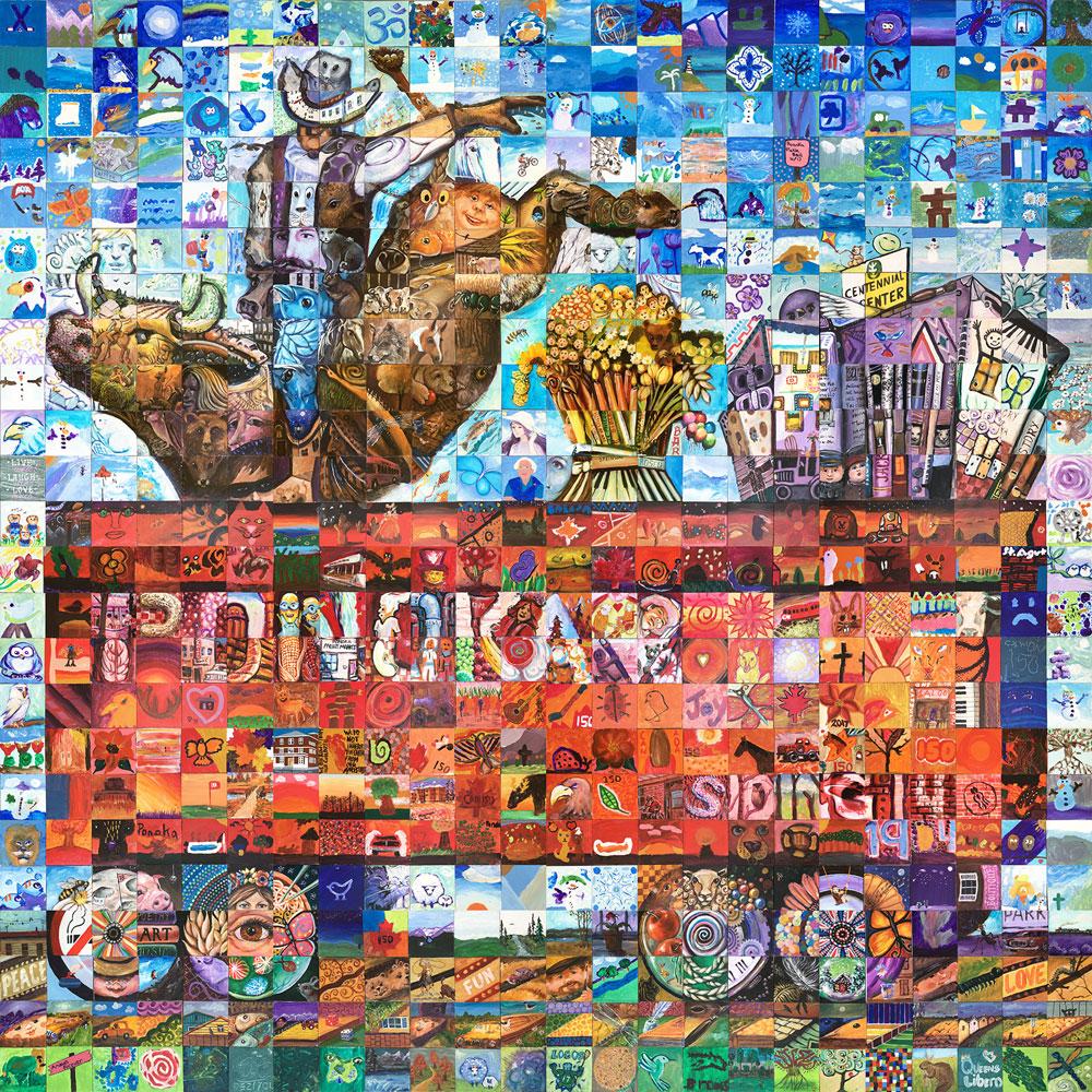 Ponoka Alberta Canada 150 mural