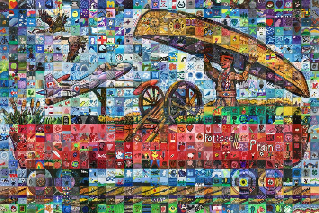 Portage La Prairie Manitoba Canada 150 mural