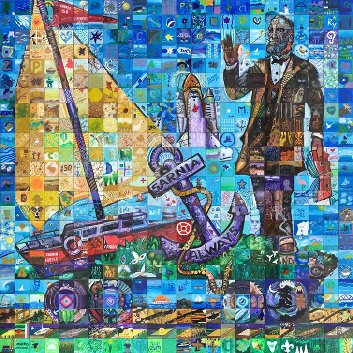 Sarnia Ontario Canada 150 Mural