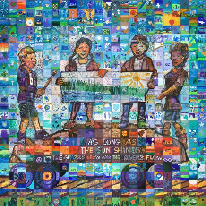 Saskatoon Saskatchewan Canada 150 mural