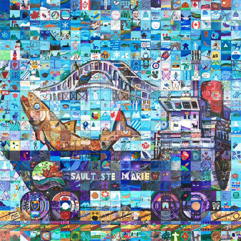 sault-St.-Marie Ontario Canada 150 mural
