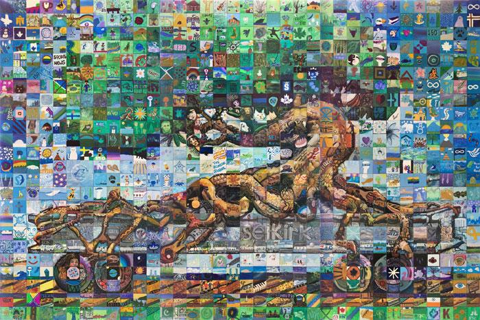 Selkirk Manitoba Canada 150 mural