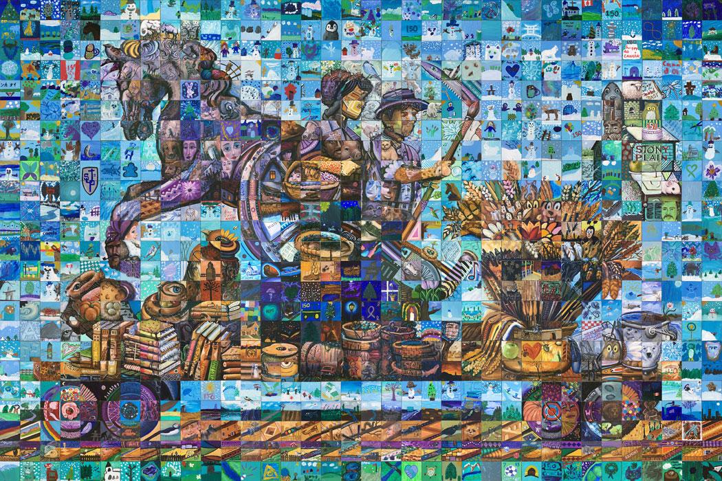 Stony Plain Alberta Canada 150 mural