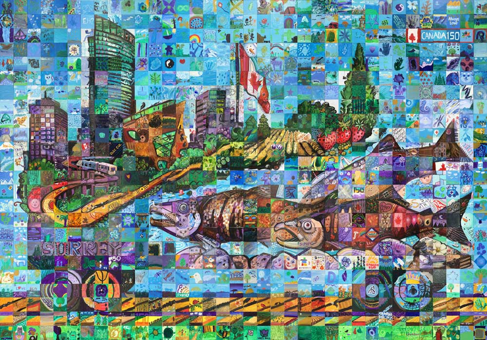 Surrey, British Columbia Canda 150 mural