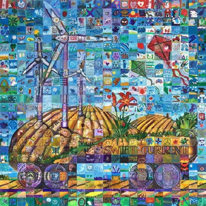 Swift Current Saskatchewan Canada 150 mural