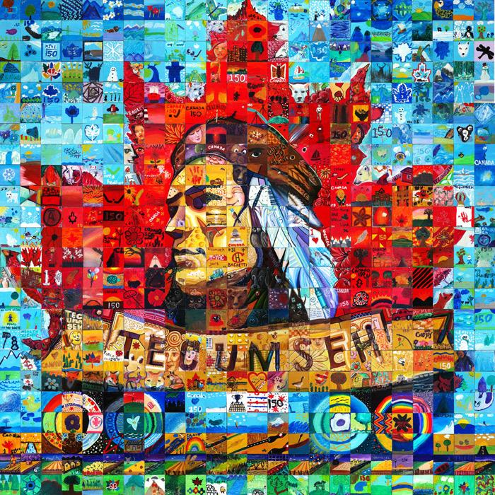 Tecumseh, Ontario Canada 150 mural