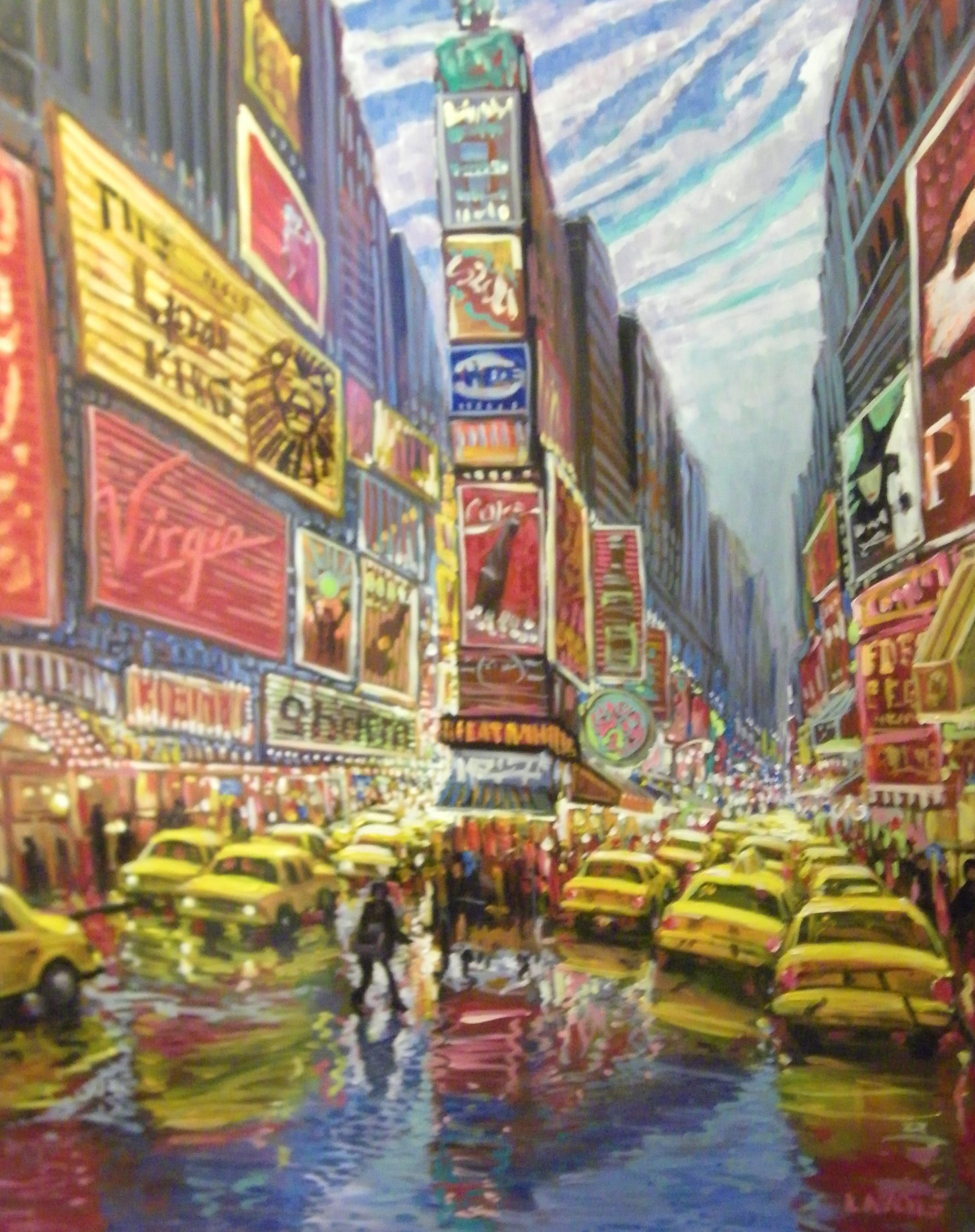 Time Square Street Scene live art