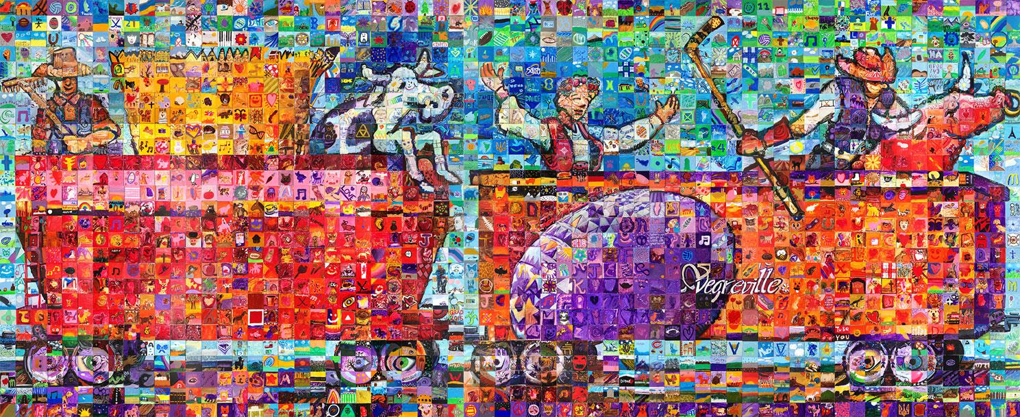 Vegreville, Alberta Canada 150 mural