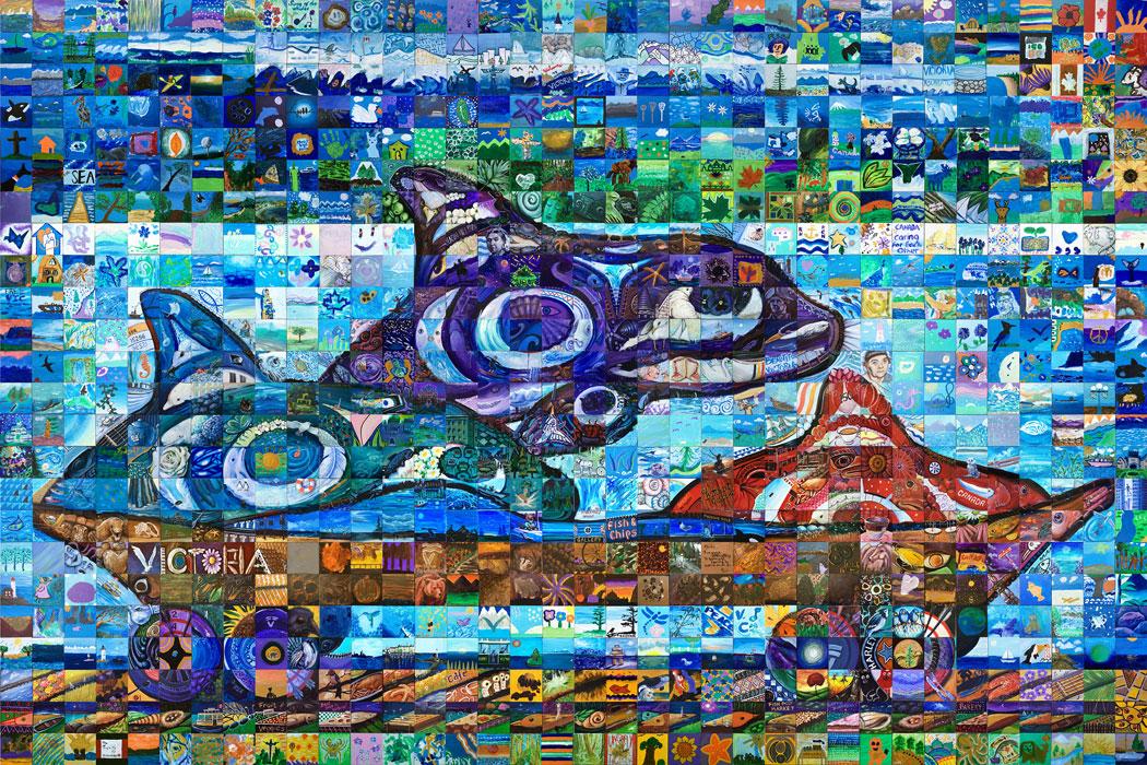 Victoria Canada 150 Mural