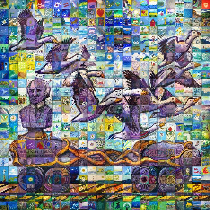 victoriaville quebec Canada 150 mural