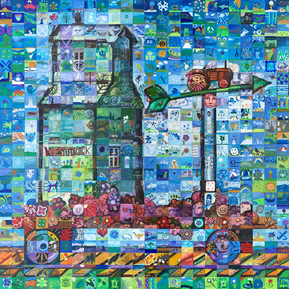 Westlock, Alberta Canada 150 mural